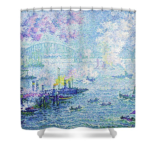 The Port Of Rotterdam - Digital Remastered Edition Shower Curtain