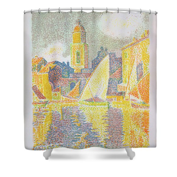 The Port, Saint-tropez - Digital Remastered Edition Shower Curtain
