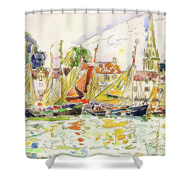 The Pouliguen, Fishing Boats - Digital Remastered Edition Shower Curtain
