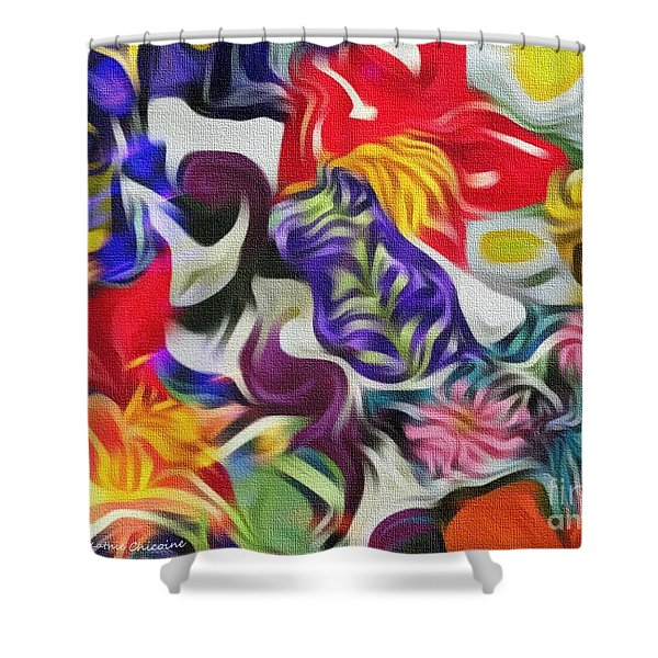The Power Of Flowers Shower Curtain