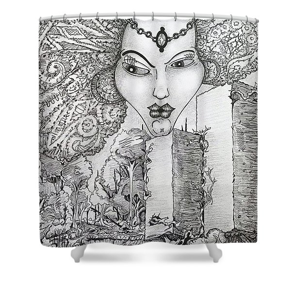 The Queen Of Oz Shower Curtain