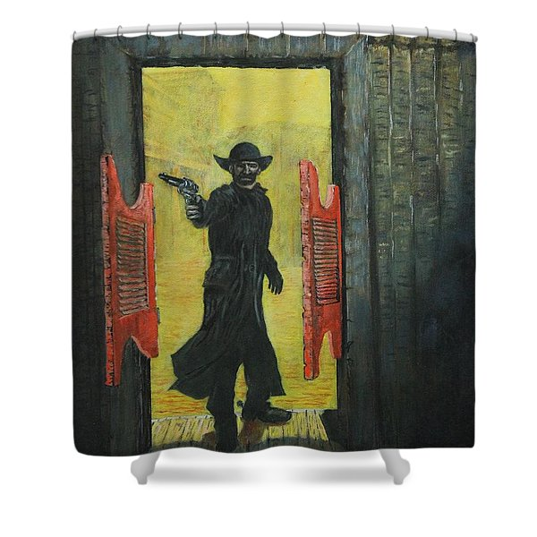 The Red Saloon Doors.....what Next Shower Curtain