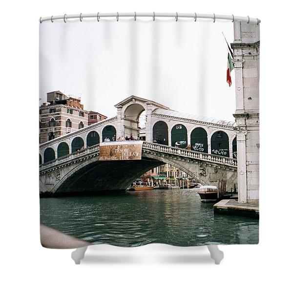 The Rialto Bridge  Shower Curtain