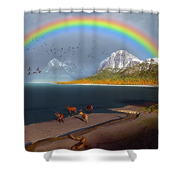 The Rings Of Eden Shower Curtain