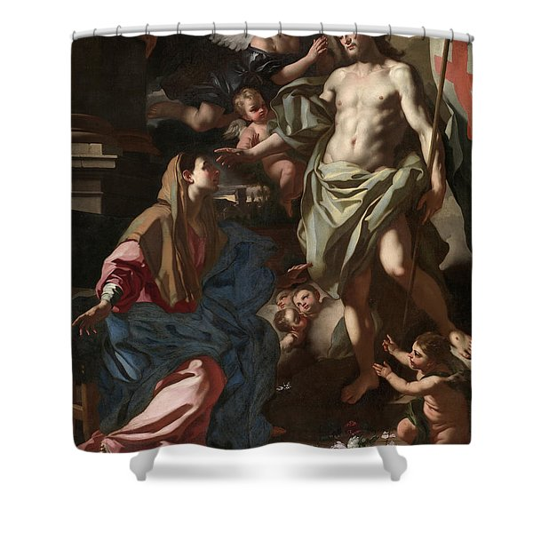 The Risen Christ Appearing To The Virgin, 1708 Shower Curtain