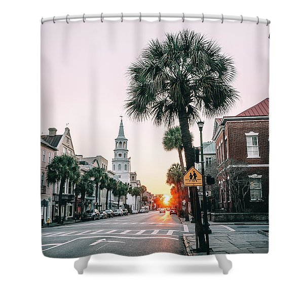 The Road Is Broad Shower Curtain