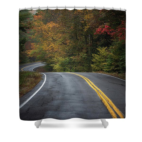 The Road To Friends Lake Shower Curtain