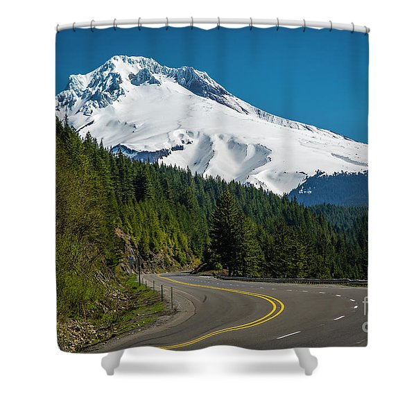 The Road To Mt. Hood Shower Curtain