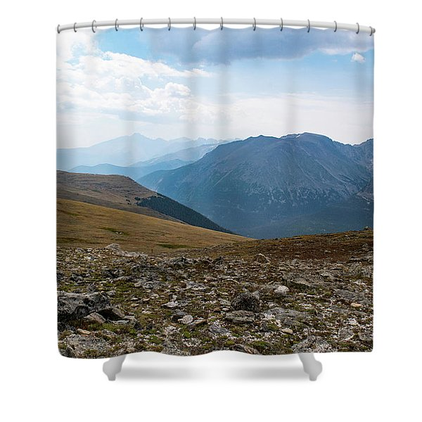 The Rocky Arctic Shower Curtain