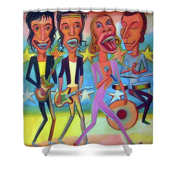 The Rolling Stones Band Shower Curtain