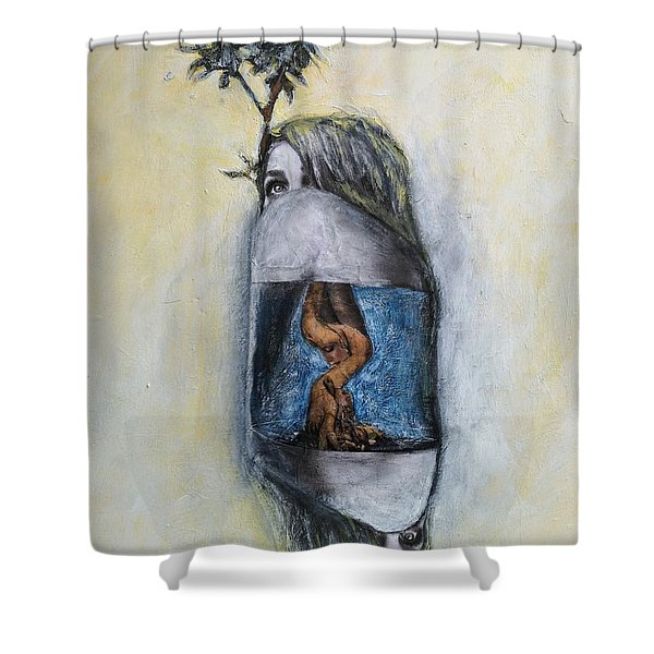 The Root Of Stranger Things Shower Curtain