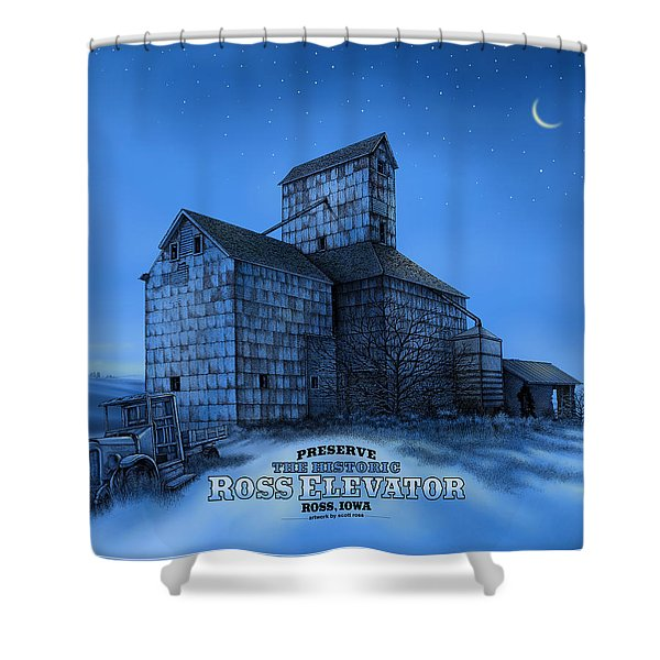 The Ross Elevator Version 3 Shower Curtain