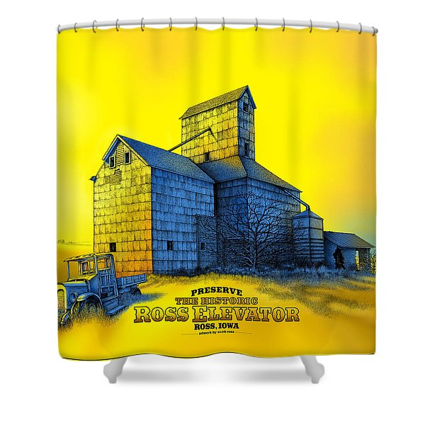 The Ross Elevator Version 4 Shower Curtain