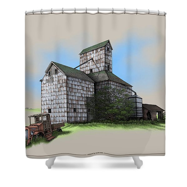 The Ross Elevator Version 5 Shower Curtain