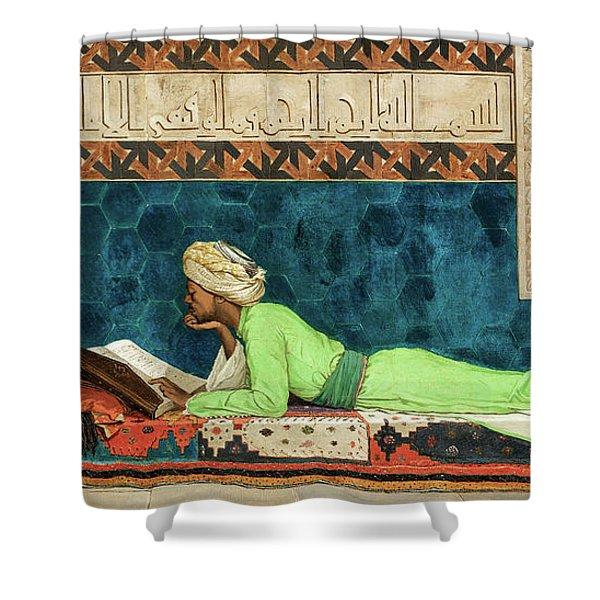 The Scholar, 19th Century Shower Curtain