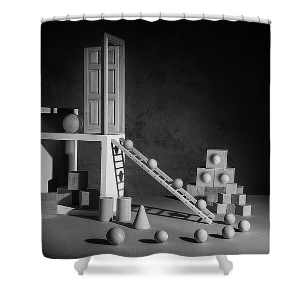 The Shape Of Things Shower Curtain
