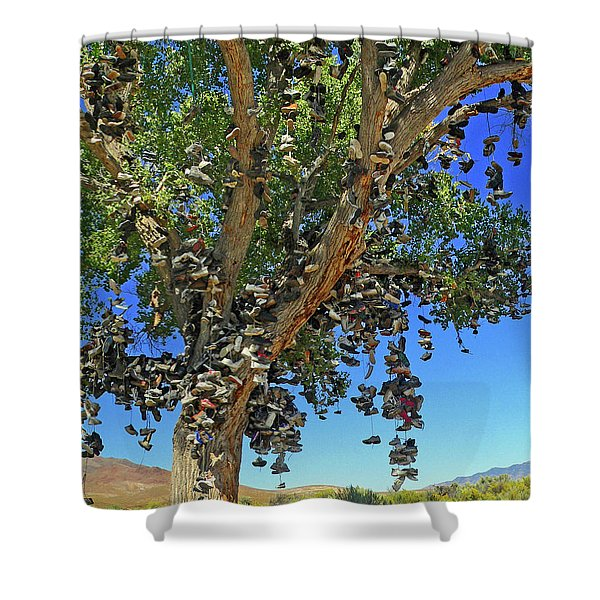 The Shoe Tree Shower Curtain