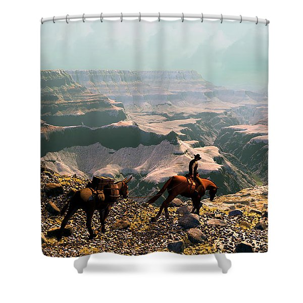 The Sinking Earth Shower Curtain