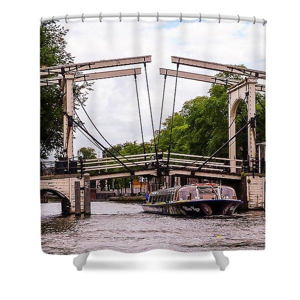 The Skinny Bridge Amsterdam Shower Curtain