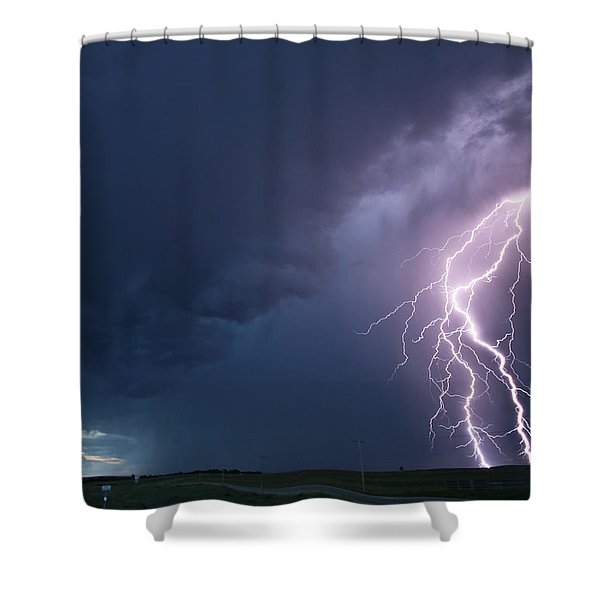 The Sky Is Alive Shower Curtain
