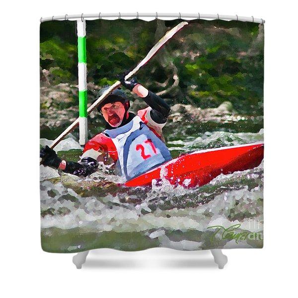 The Slalom Shower Curtain