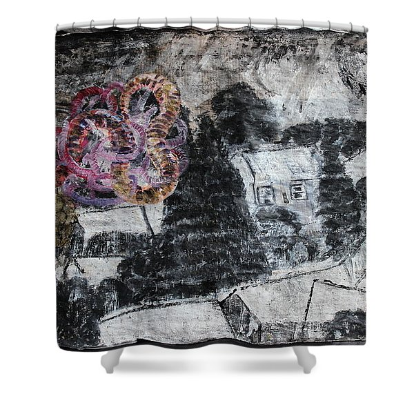 The Slow And Winding Tale Of Destruction Shower Curtain