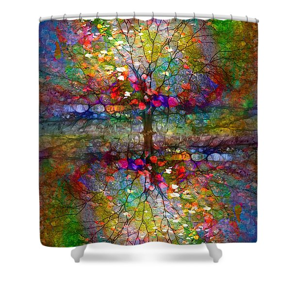 The Souls Of Leaves Shower Curtain