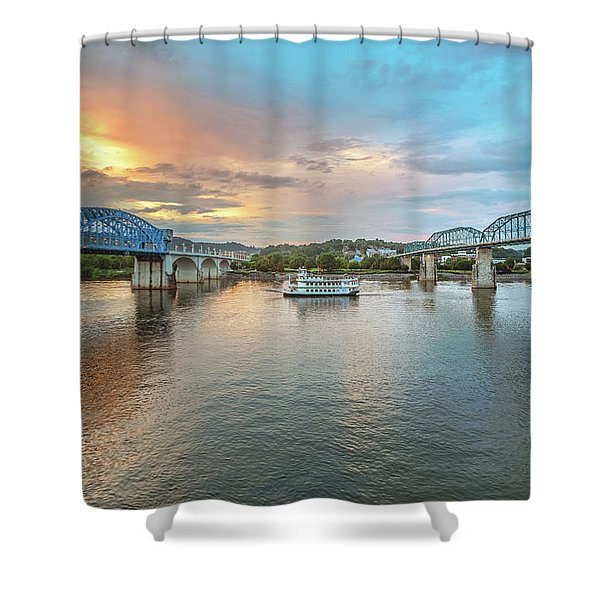 The Southern Belle Between The Bridges  Shower Curtain