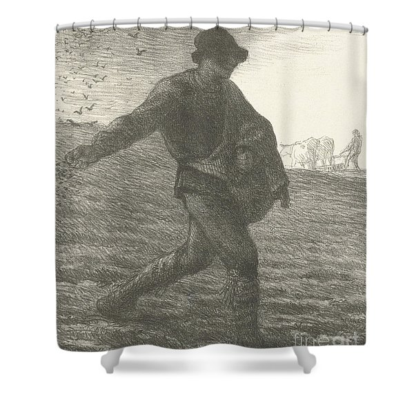 The Sower, 1851 Lithograph Shower Curtain
