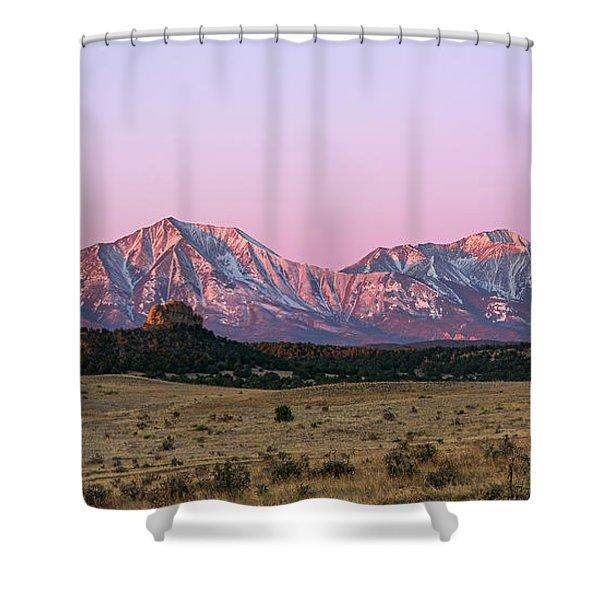 The Spanish Peaks Shower Curtain