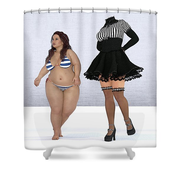 The Thought Shower Curtain
