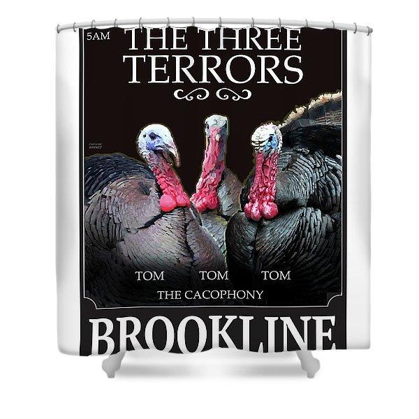 The Three Terrors Shower Curtain