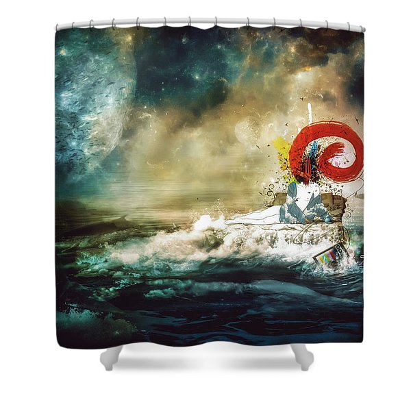 The Traffic Of The Whales Shower Curtain