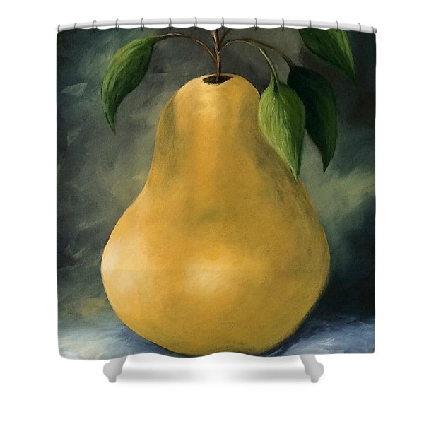 The Treasured Pear Shower Curtain