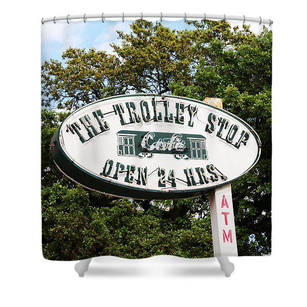 The Trolley Stop Cafe Shower Curtain