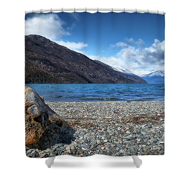 The Puelo Lake In The Argentine Patagonia Shower Curtain