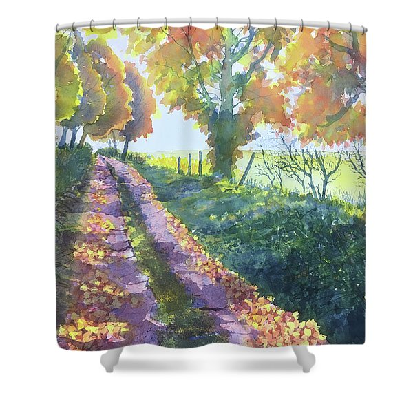 The Tunnel In Autumn Shower Curtain