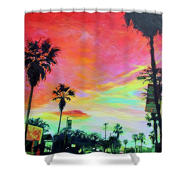 Red Night Shower Curtain