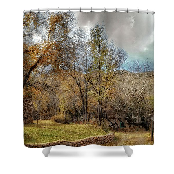The Turquoise Door Shower Curtain