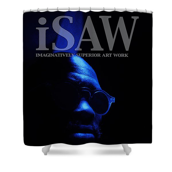Shower Curtain featuring the digital art The Underground Artist by ISAW Company