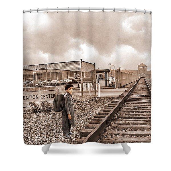 The Vanishing Child Shower Curtain