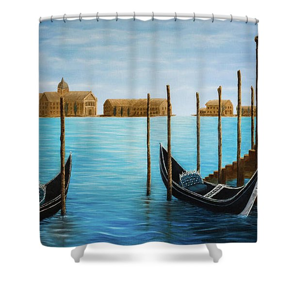 The Venetian Phoenix Shower Curtain