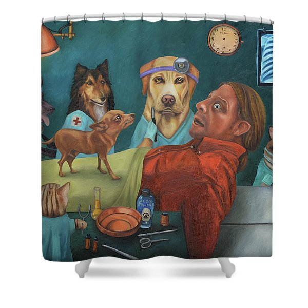 The Vet's Worst Nightmare Shower Curtain