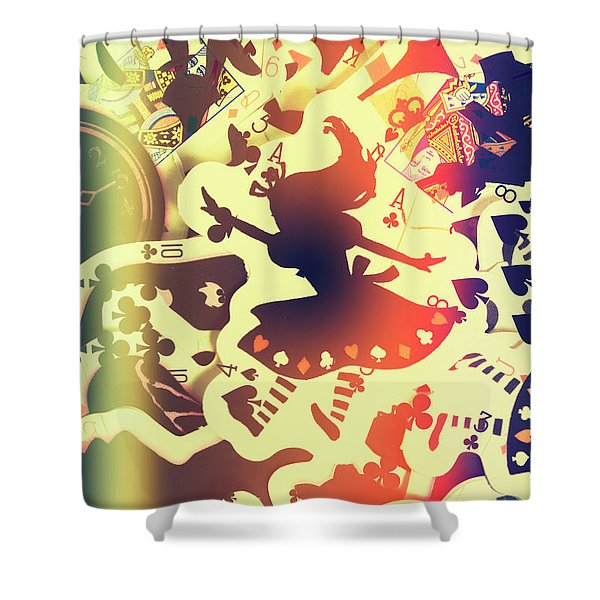 The Waking Game Shower Curtain