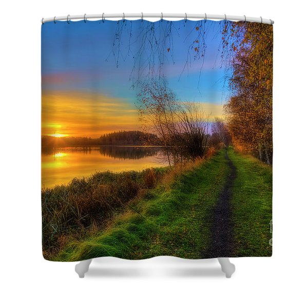 The Way To Go 3 Shower Curtain