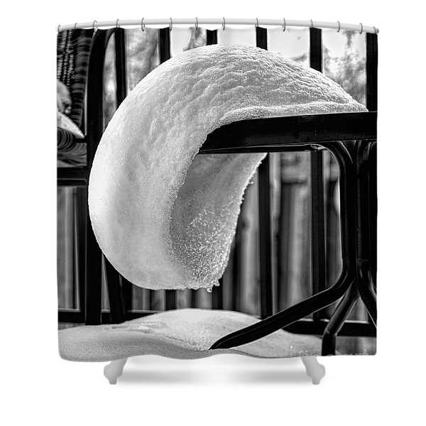 The White Beret Shower Curtain