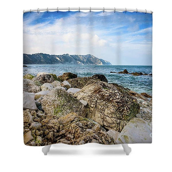 The Winter Sea #1 Shower Curtain