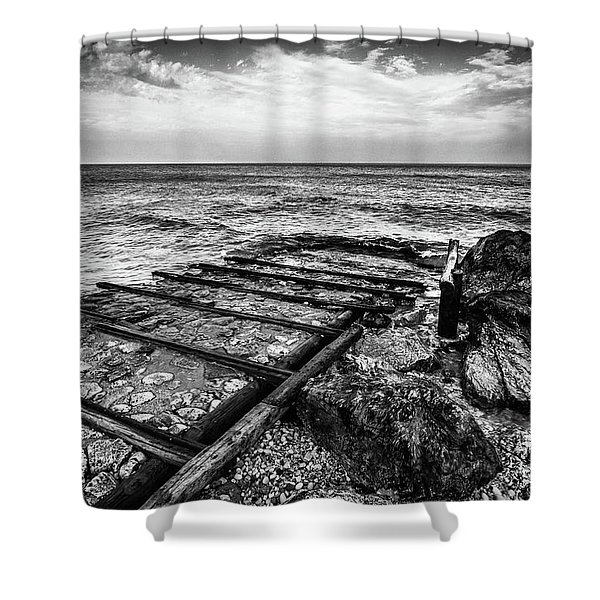 The Winter Sea #6 Shower Curtain