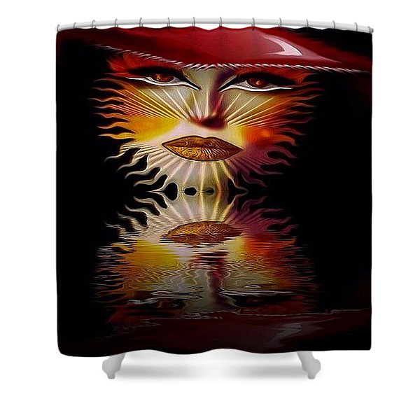 The Wizard Lady Of The Sun Shower Curtain