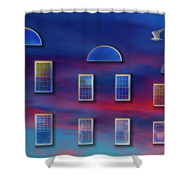 The Wormhole Shower Curtain
